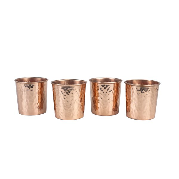 Copper 13 oz. Tumbler (Set of 4) by Copper Mug Co