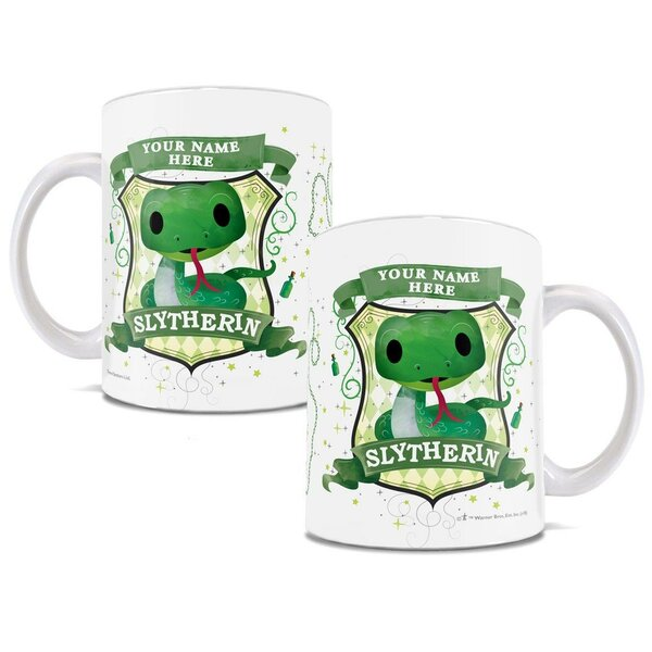 Harry Potter Personalized Slytherin Chibi Cute Geek Coffee Mug by Trend Setters