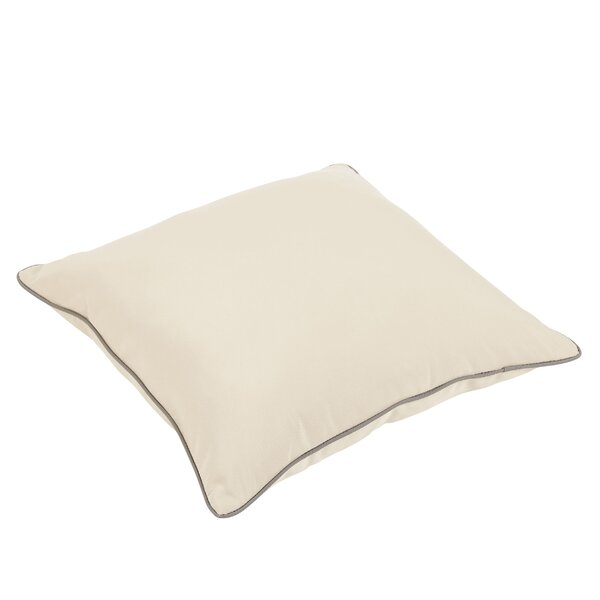 Rosewood Indoor/Outdoor Sunbrella Piped Floor Pillow by Bay Isle Home