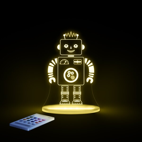 Aloka Starlight Robot LED 3-Light Night Light with Remote Control by Lumenico