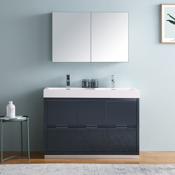 Senza Valencia 48 Double Bathroom Vanity Set