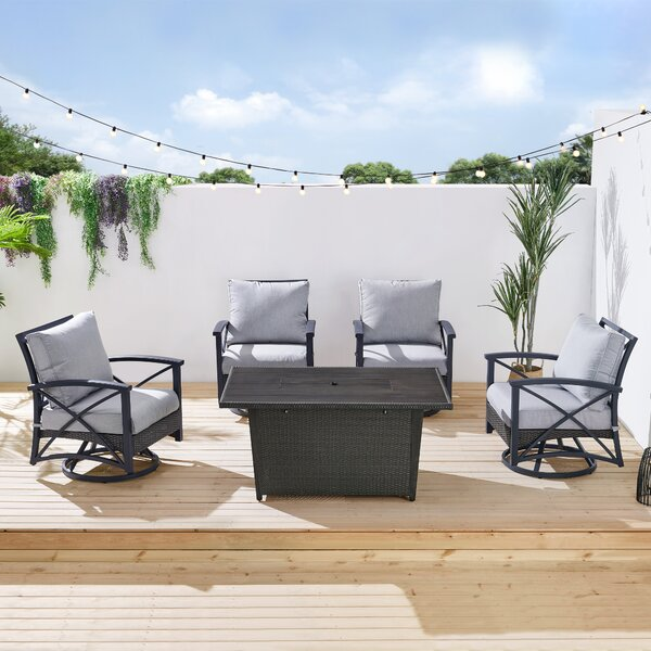 Lakeside Patio 5 Piece Multiple Chairs Seating Group with Cushions by Martha Stewart Martha Stewart