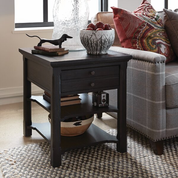 Monroe End Table with Storage by Canora Grey