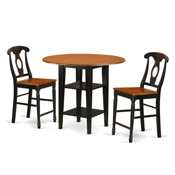 Find Tyshawn Counter Height 3 Piece Pub Table Set By Charlton Home 2019 Coupon