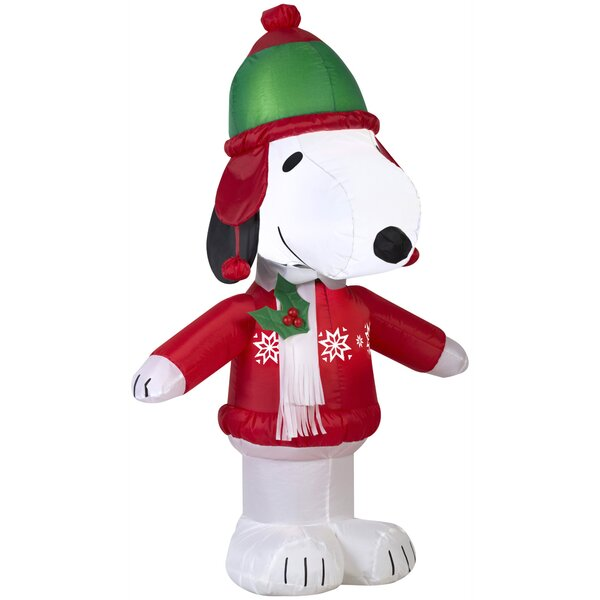 Snoopy in Winter Wear Inflatable by The Holiday Aisle