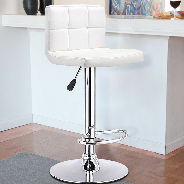 Jamir Adjustable Height Swivel Bar Stool by Ebern Designs