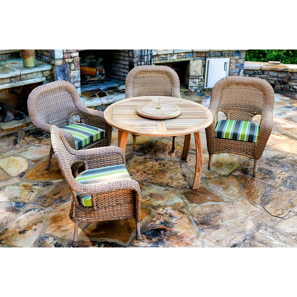 Fleischmann 5 Piece Dining Set with Cushions by Darby Home Co
