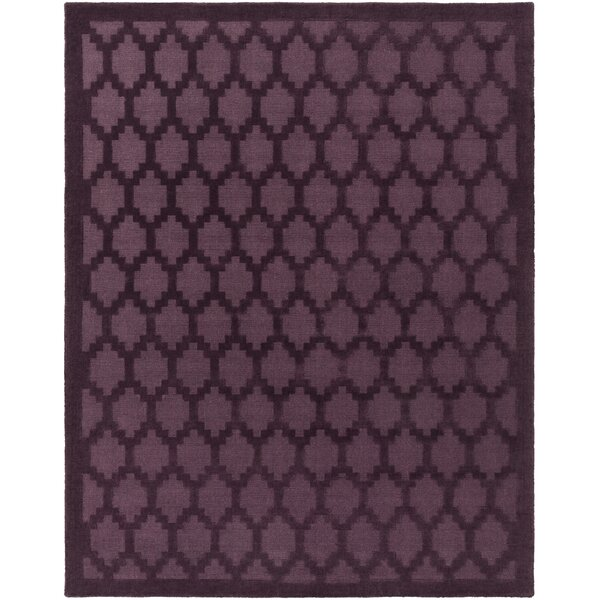 Bracey Hand-Loomed Plum Area Rug by Wrought Studio