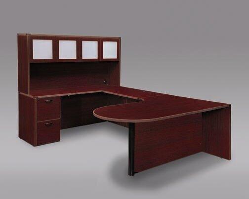 Fairplex Left Bullet U-Shape Executive Desk by Flexsteel Contract