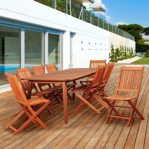 Tynan International Home Outdoor 9 Piece Dining Set
