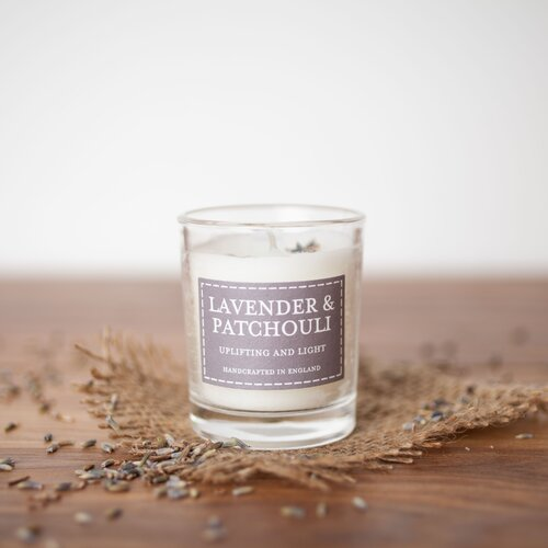 Lavender and Patchouli Scented Jar Candle (Set of 2) The Cou