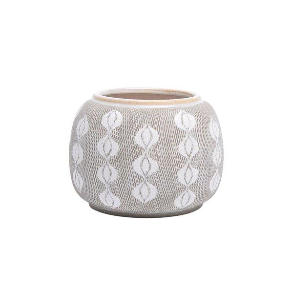 Fidler Textured Ceramic Pot Planter by Bungalow Rose