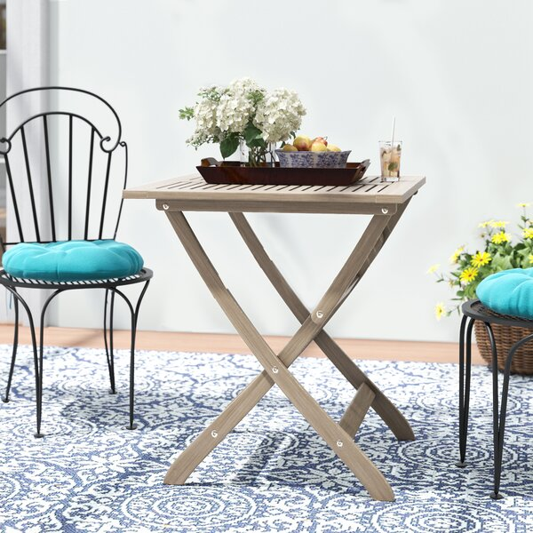 Lleyton Outdoor Folding Bistro Table by Winston Porter