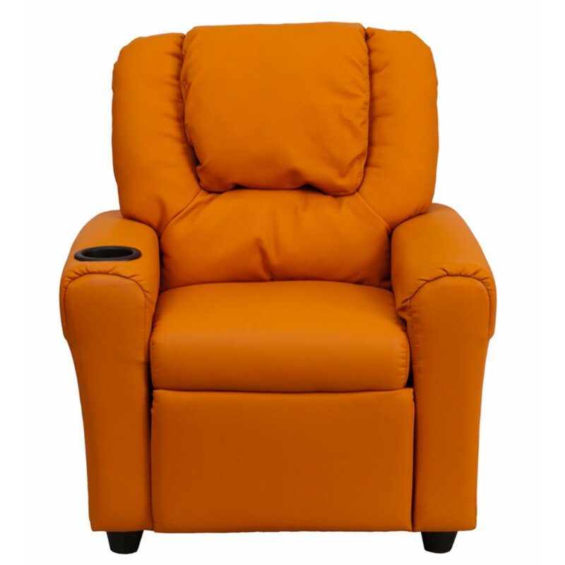 April Kids Recliner Chair With Cup Holder