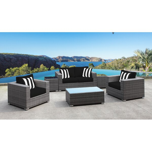 Yeager 6 Piece Sofa Seating Group with Cushion by Orren Ellis