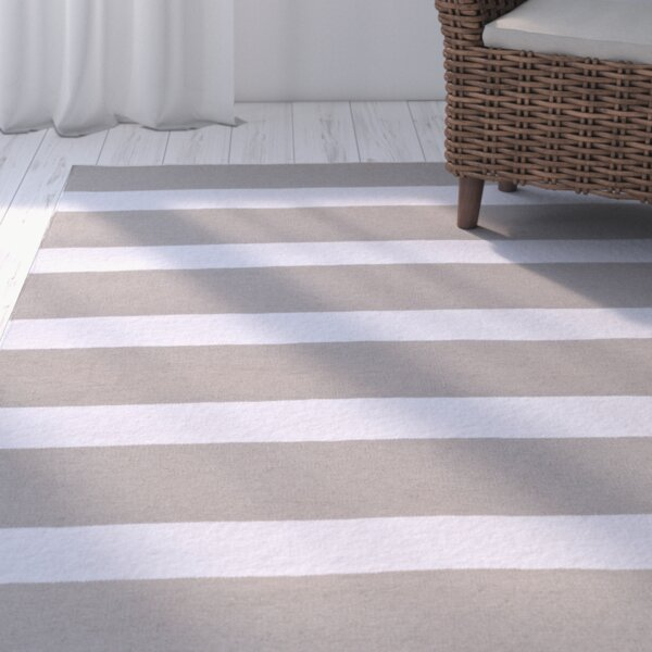 Peugeot Gray/Ivory Indoor/Outdoor Area Rug by Beachcrest Home