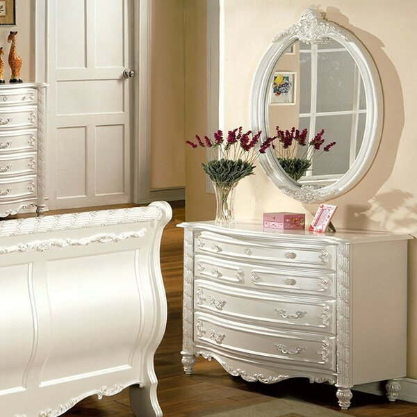 Joana 5 Drawer Double Dresser with Mirror by Rosdorf Park