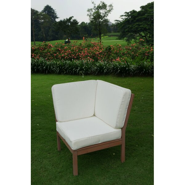 Hermitage Corner Patio Chair with Cushions by Bungalow Rose
