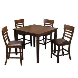 Grothe 5 Piece Counter Height Dining Set by Alcott Hill