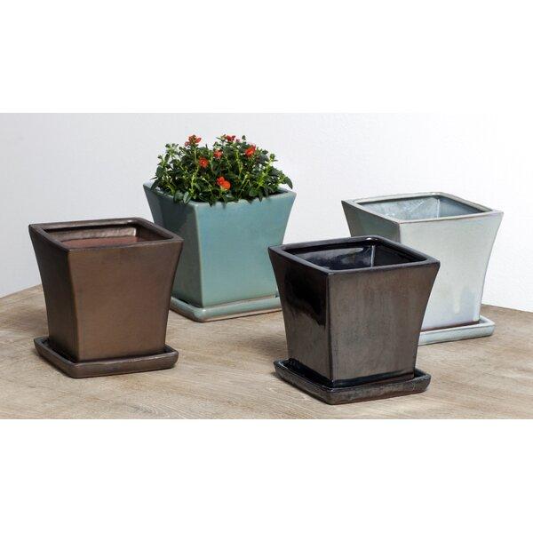 MCM 8-Piece Pot Planter Set with Saucer by Campania International