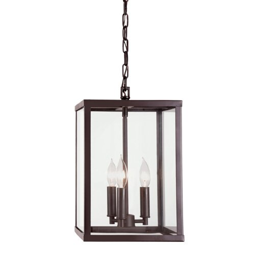 Carmella 3-Light Unique / Statement Rectangle / Square Chandelier By Charlton Home