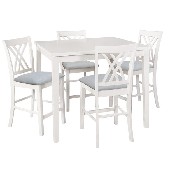 Gisella 5 Piece Breakfast Nook Dining Set by Highland Dunes