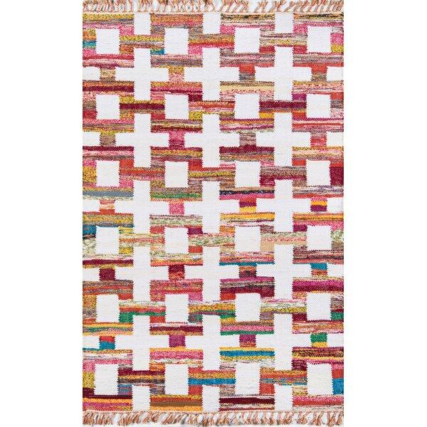 California Ojai Hand Woven Cotton Red/Yellow Area Rug by Novogratz By Momeni