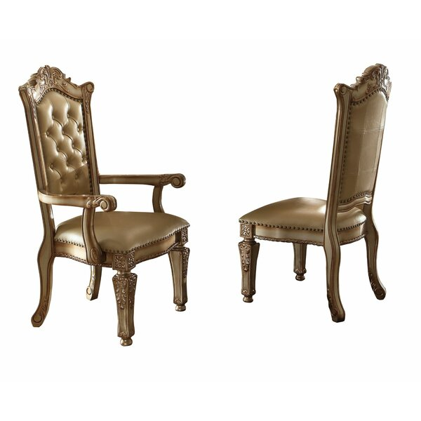Wellow Tufted Upholstered Side Chair in Gold (Set of 2) by Astoria Grand Astoria Grand