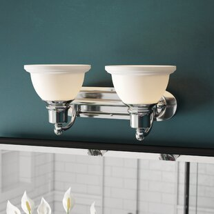Comparison Gradall 2-Light White Shade Vanity Light By Three Posts