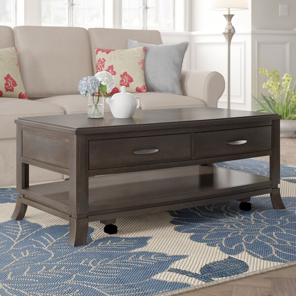 Benbrook Solid Wood Extendable Coffee Table With Storage By Red Barrel Studio