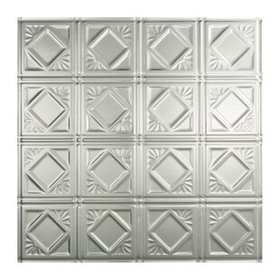 traditional 4 2 ft x 2 ft drop in ceiling tile in brushed aluminum - 2 X 2 Ceiling Tiles