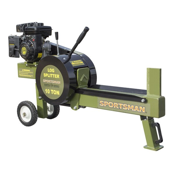 10 Ton Gas Powered Kinetic Log Spitter Plastic Fireplace Tool By Offex