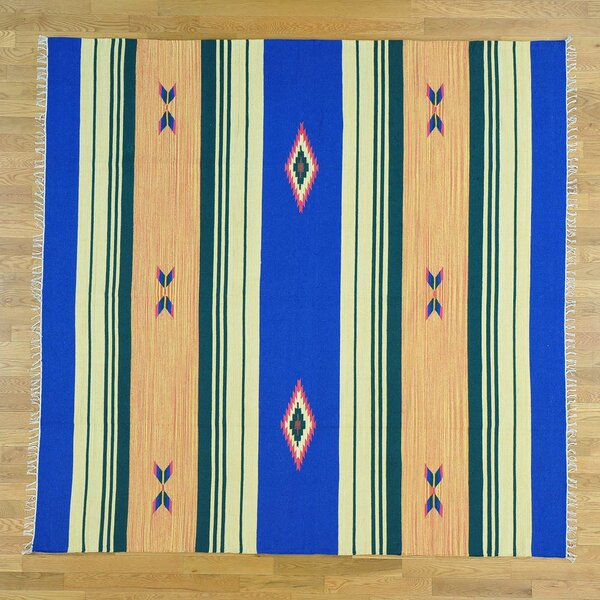 One-of-a-Kind Bibb Killim Design Reversible Handwoven Wool Area Rug by Isabelline