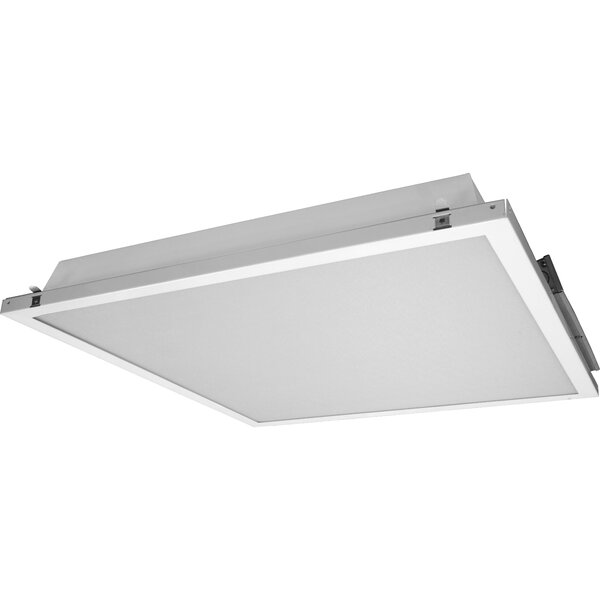 Contractor Friendly Troffer LED Semi Flush Mount in 4000K with Emergency Backup by NICOR Lighting