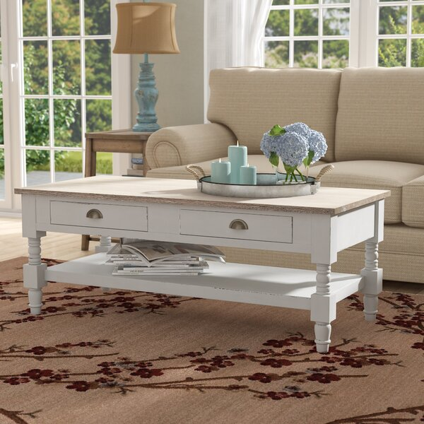 Abby Ann Coffee Table with Tray Top by August Grove August Grove