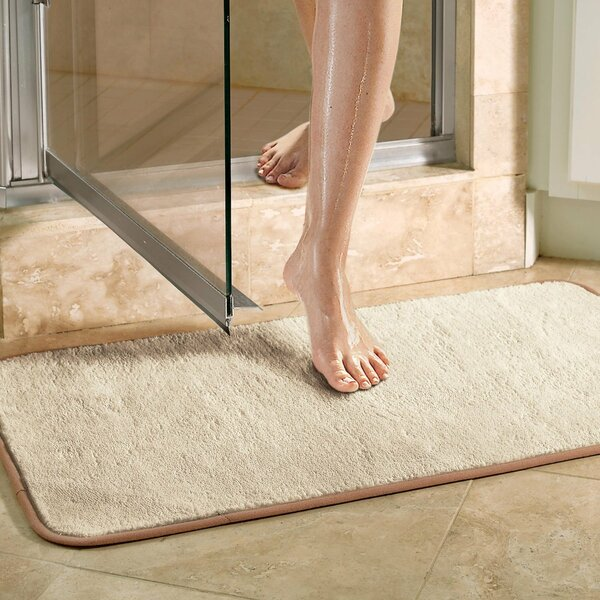 Microfiber Absorbing Bath Mat Bathroom Rug by Violet Linen