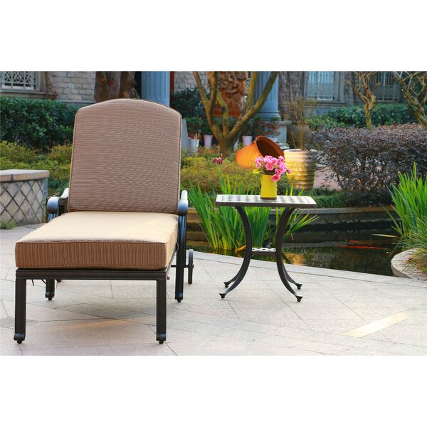 Ballentine Reclining Chaise Lounge with Cushion and Table