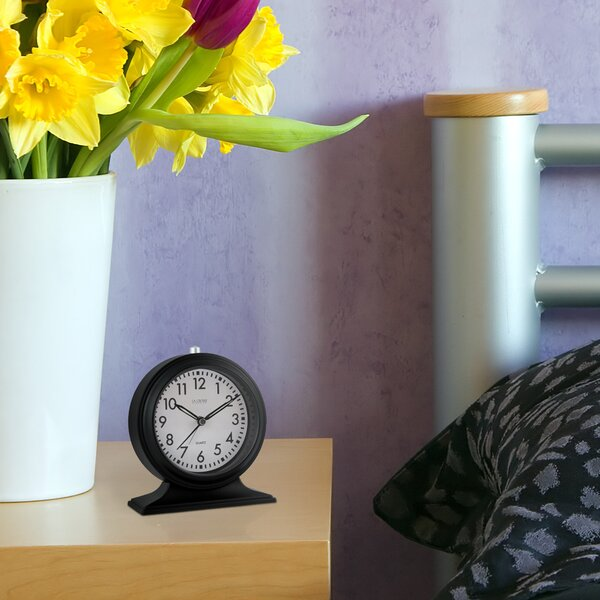 Silent Sweep Alarm Mantel Clock by La Crosse Technology
