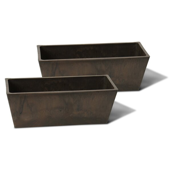 Cara Composite Planter Box (Set of 2) by Charlton Home