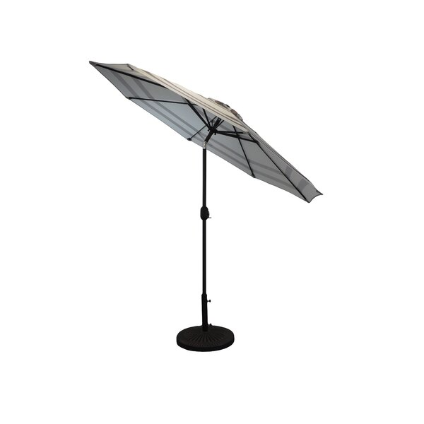 Manila Striped Patio 9' Market Umbrella by Freeport Park Freeport Park