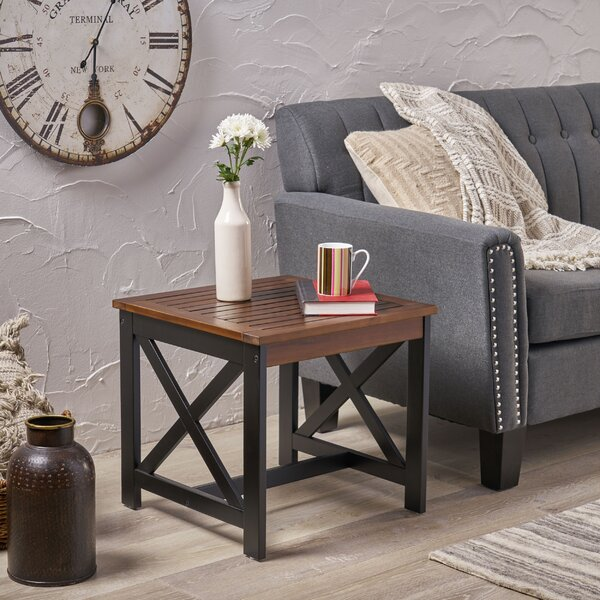 Pantoja Indoor Farmhouse End Table By Breakwater Bay
