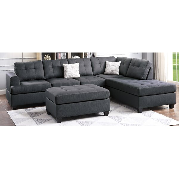 Fleury Reversible Sectional With Ottoman By Winston Porter