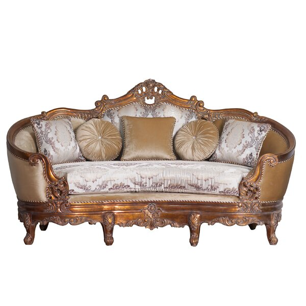 Xanthe Curved Loveseat By Astoria Grand