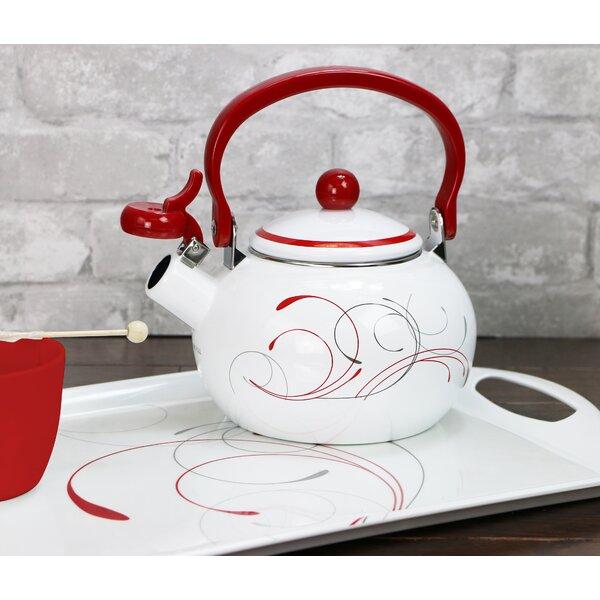 Splendor Whistling 2-qt. Enamel on Steel Teapot by Corelle