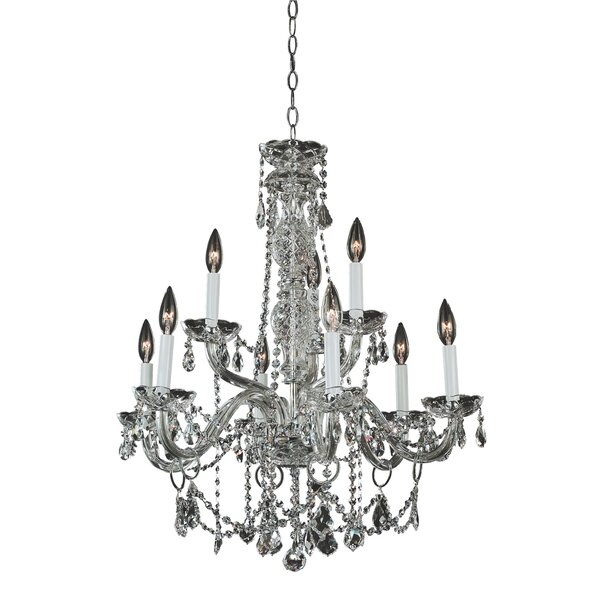 Crystal Palace 9 - Light Candle Style Empire Chandelier By Glow Lighting