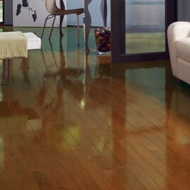 High Gloss 2-1/4 Solid Oak Hardwood Flooring in Gunstock by Somerset Floors