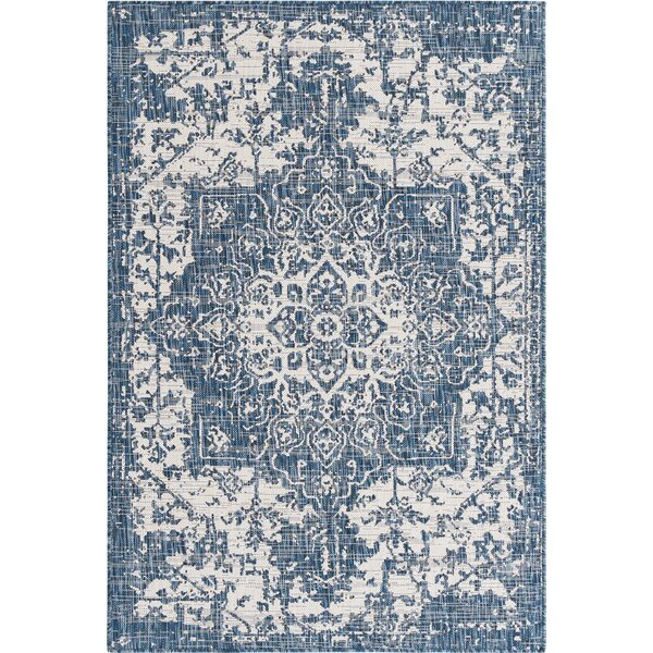 Dorthe Oriental Blue Indoor/Outdoor Area Rug