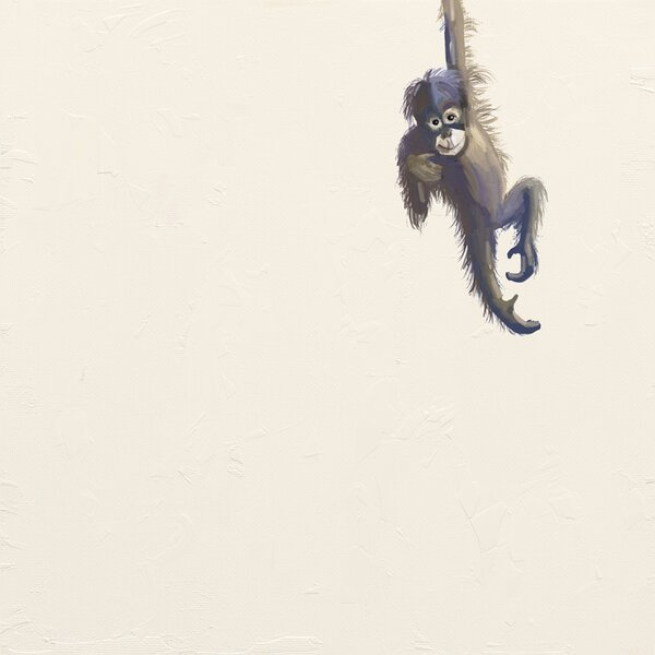 Cristin Baby Monkey Paper Print by Harriet Bee