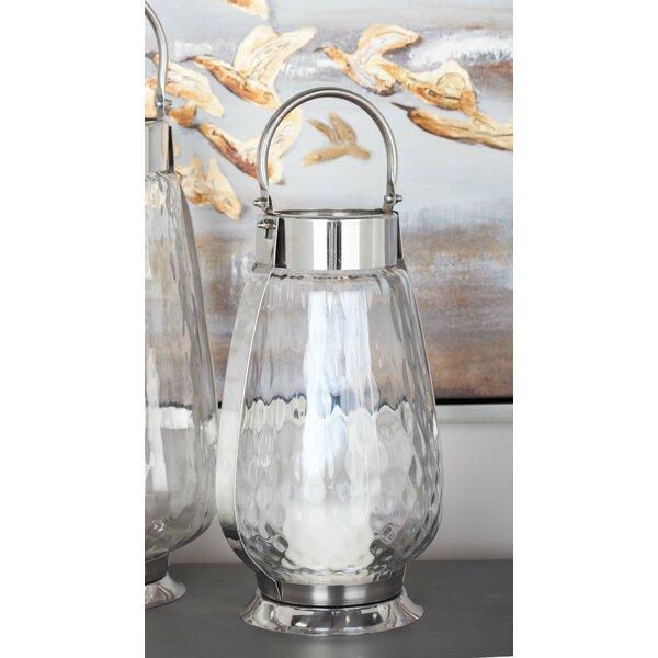 Metal/Glass Lantern by Cole & Grey