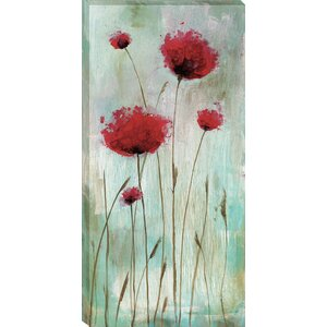 Splash Poppies I by Catherine Brink Framed Painting Print on Wrapped Canvas by Tangletown Fine Art